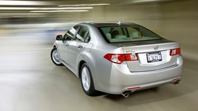 acura, 2008, silver metallic, rear view, style, auto, acura, tsx, speed - wallpapers, picture