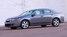 acura, 2008, metallic gray, side view, style, auto, acura, tsx, wall, asphalt - wallpapers, picture