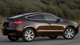 acura, 2009, brown, side view, style, acura, zdx, auto, shrubs, asphalt - wallpapers, picture
