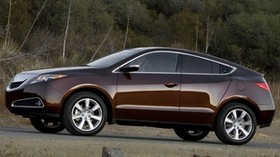 acura, 2009, brown, side view, style, auto, acura, zdx, nature, shrubs, grass - wallpapers, picture