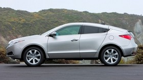 acura, 2009, silver metallic, side view, style, auto, acura, zdx, nature, asphalt, grass - wallpapers, picture