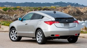 acura, 2009, silver metallic, side view, style, auto, acura, zdx, nature, trees, grass, asphalt - wallpapers, picture