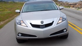 acura, 2009, silver metallic, front view, style, auto, acura, zdx, speed, road, sky, grass - wallpapers, picture