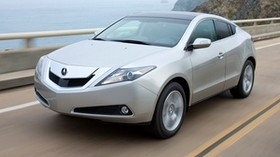 acura, 2009, silver metallic, front view, style, auto, acura, zdx, speed, sea, mountains - wallpapers, picture
