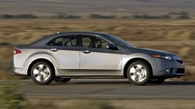 acura, 2010, metallic gray, side view, style, auto, acura, tsx, speed, road, nature - wallpapers, picture