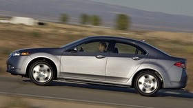 acura, 2010, metallic gray, side view, style, auto, acura, tsx, speed, nature, road - wallpapers, picture