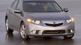 acura, 2010, metallic gray, front view, style, auto, acura, tsx, wet asphalt - wallpapers, picture