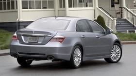 acura, 2010, metallic gray, rear view, style, acura, rl, auto, house, grass, asphalt - wallpapers, picture
