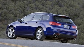 acura, 2010, blue, side view, style, auto, acura, tsx, nature, forest - wallpapers, picture