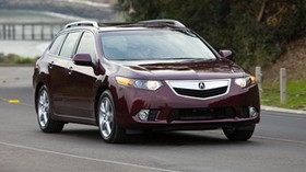 acura, 2010, cherry, front view, style, auto, acura, tsx, nature, trees, speed, asphalt - wallpapers, picture