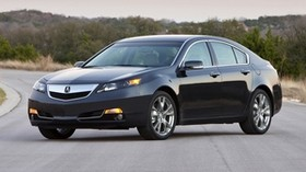 acura, 2011, black, side view, auto, style, acura, tl, sunset, trees, asphalt - wallpapers, picture