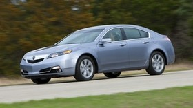 acura, 2011, metallic blue, side view, style, auto, acura, tl, speed, nature, trees, grass - wallpapers, picture