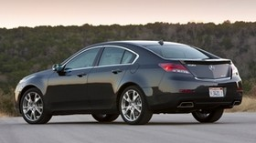 acura, 2011, blue, side view, style, auto, acura, tl, sunset, trees - wallpapers, picture