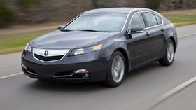acura, 2011, blue, front view, style, auto, acura, tl, speed, grass, trees, nature, asphalt - wallpapers, picture