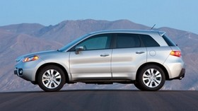 acura, white, jeep, side view, acura, rdx, auto, style, mountains, nature - wallpapers, picture