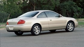 acura, white metallic, side view, acura, cl, auto, trees - wallpapers, picture