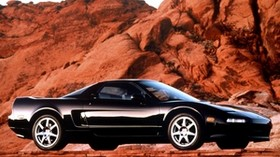 acura, black, sport, side view, acura, nsx, canyon, auto - wallpapers, picture