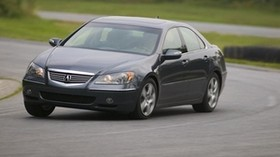 acura, black, front view, style, acura, rl, auto, speed, movement, turn, asphalt - wallpapers, picture