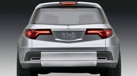 acura, concept car, 2005, silver metallic, rear view, acura, rd-x, concept, car - wallpapers, picture