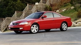 acura, red, side view, acura, cl, nature, trees - wallpapers, picture