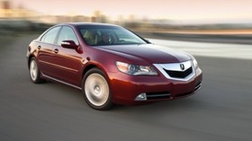 acura, red, side view, style, acura, rl, auto, speed, city - wallpapers, picture