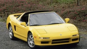 acura, nsc-t, yellow, front view, acura, nsx-t, sport, style, auto, nature - wallpapers, picture