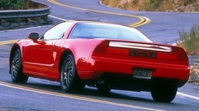 acura, nsc, red, rear view, acura, nsx, 1999, sport, style, auto, road, rocks, nature - wallpapers, picture