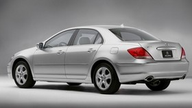 acura, sedan, auto, silver metallic, side view, acura, rl, style - wallpapers, picture