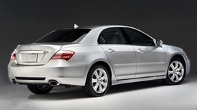 acura, sedan, silver metallic, side view, style, acura, rl, auto - wallpapers, picture