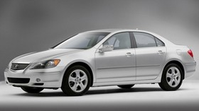 acura, sedan, silver metallic, side view, acura, rl, style, auto - wallpapers, picture