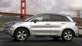 acura, silver metallic, side view, style, acura, rdx, auto, nature, bridge, sky - wallpapers, picture