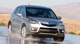 acura, silver metallic, front view, jeep, acura, rdx, auto, wet asphalt, spray - wallpapers, picture