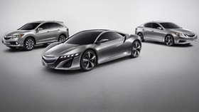 acura, metallic gray, side view, style, auto - wallpapers, picture
