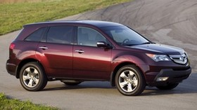 acura, cherry, jeep, side view, acura, mdx, auto, nature, road - wallpapers, picture