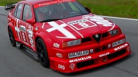 alfa romeo, 155, auto, red, sport, white, Alfa Romeo, front view - wallpapers, picture
