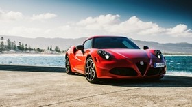 alfa romeo, 4c, au-spec, red side view - wallpapers, picture