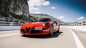 alfa romeo, 4c, au-spec, red, front view - wallpapers, picture