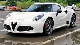 alfa romeo 4c, white, side view - wallpapers, picture