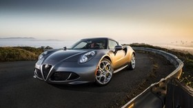alfa romeo, 4c, silver, side view - wallpapers, picture