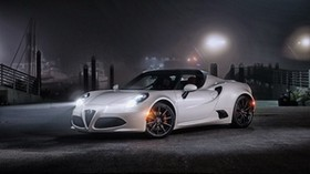 alfa romeo, 4c, spider, us-spec, white, side view - wallpapers, picture