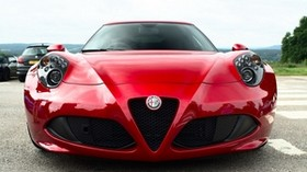 alfa romeo, red, front view - wallpapers, picture