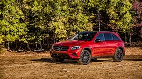 amg, mercedes-benz, glk-class, x2536, red, side view - wallpapers, picture