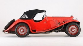 aston, martin, 1937, red, retro, side view, style, aston martin, auto - wallpapers, picture