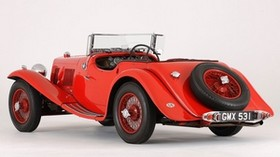 aston martin, 1937, red, side view, style, aston martin, retro, auto - wallpapers, picture