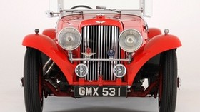 aston martin, 1937, red, front view, style, aston martin, auto, retro - wallpapers, picture