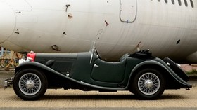 aston martin, 1937, green, black, side view, retro, style, auto - wallpapers, picture
