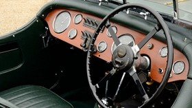 aston martin, 1937, green, interior, steering wheel, retro - wallpapers, picture