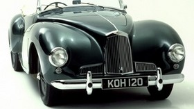 aston martin, 1948, green, front view, style, retro, auto - wallpapers, picture