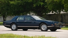 aston martin, 1976, blue, side view, auto, aston martin, lagonda, nature - wallpapers, picture