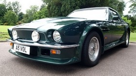 aston martin, 1984, green, front view, auto, aston martin, v8, vantage, retro - wallpapers, picture